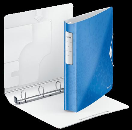 Capacit/é de 190 feuilles Blanc 4 anneaux Leitz 42000001 A4 Classeur /à anneaux personnalisable Leitz Softclick Carton recouvert de polypropyl/ène