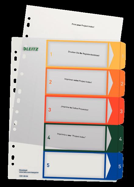Leitz Index Cosy A4 PP PC imprimible 1-5